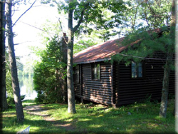 Log Cabin on water